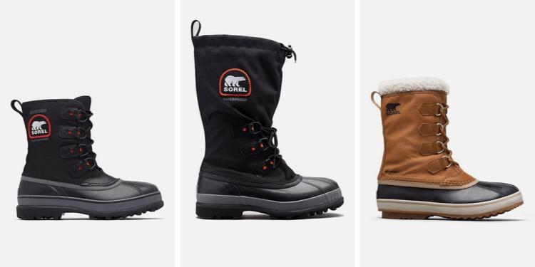 sorel men's vegan winter snow boots