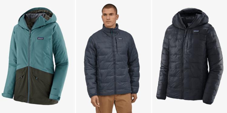 patagonia down-free coats