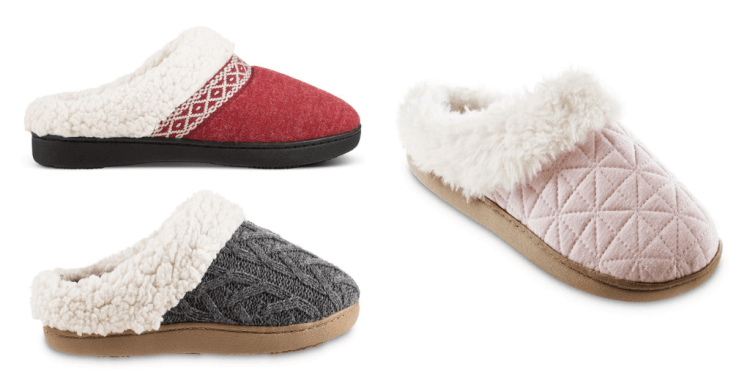 cozy vegan slippers from Isotoner