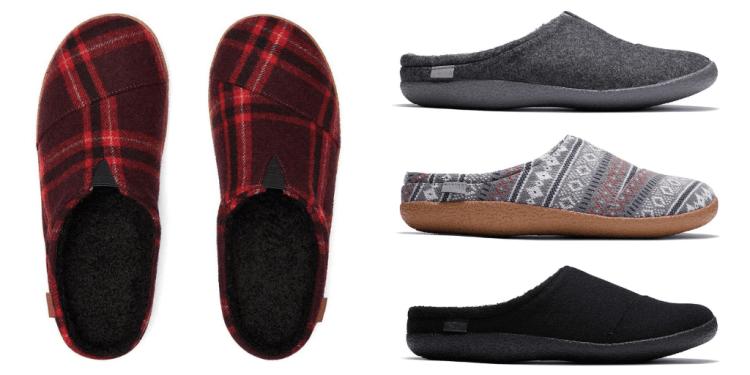 Toms vegan slippers for men