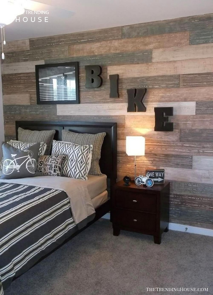 33 Cool Teenage Boy Room Decor Ideas - The Trending House on A Small Room Cheap Cool Bedroom Ideas For Teenage Guys Small Rooms  id=30965