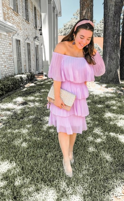 Layered Ruffle Lavender SheIn Dress Review