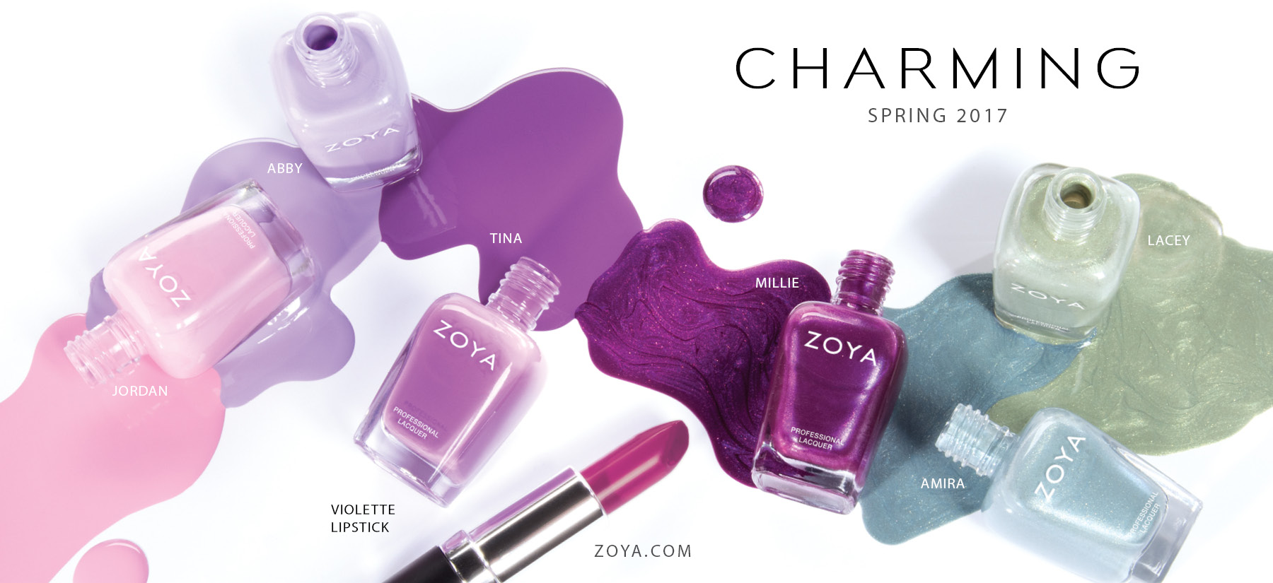 Zoya Charming Spring2017 Nail Polish Lipstick Hey And Beauty Enthusiasts Check Out The New Spring 2017