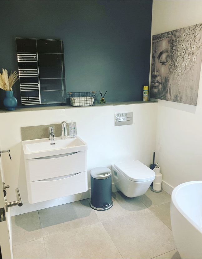House of Skincare customer bathroom in Kingsteignton, Devon