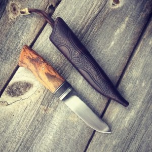 Custom Bocote Wood Knife