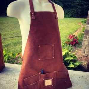 Bison Leather Craftsman's Apron