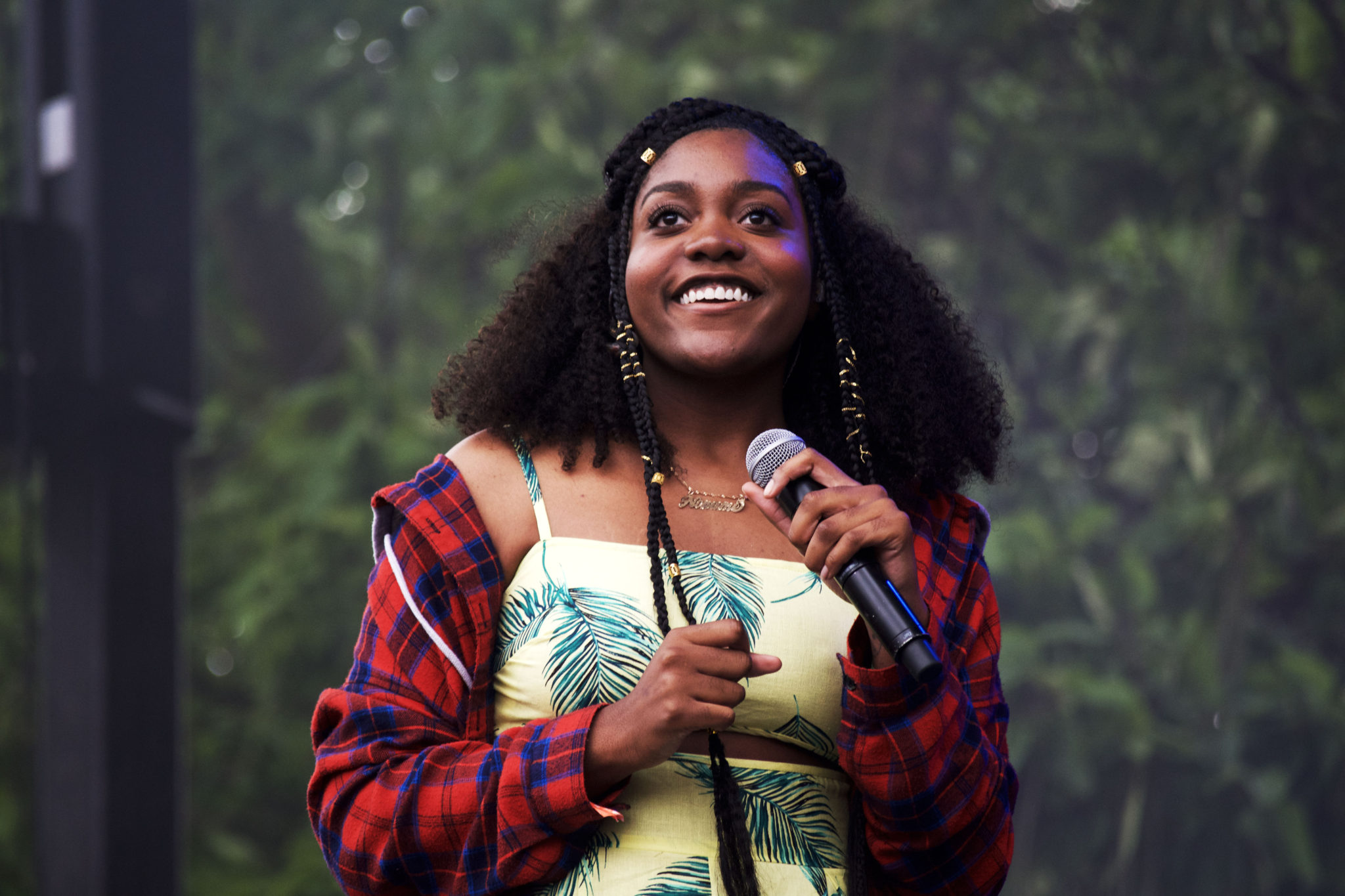 Noname smiling at the crowd   Photo by Nelson Okunlola (The TRiiBE)