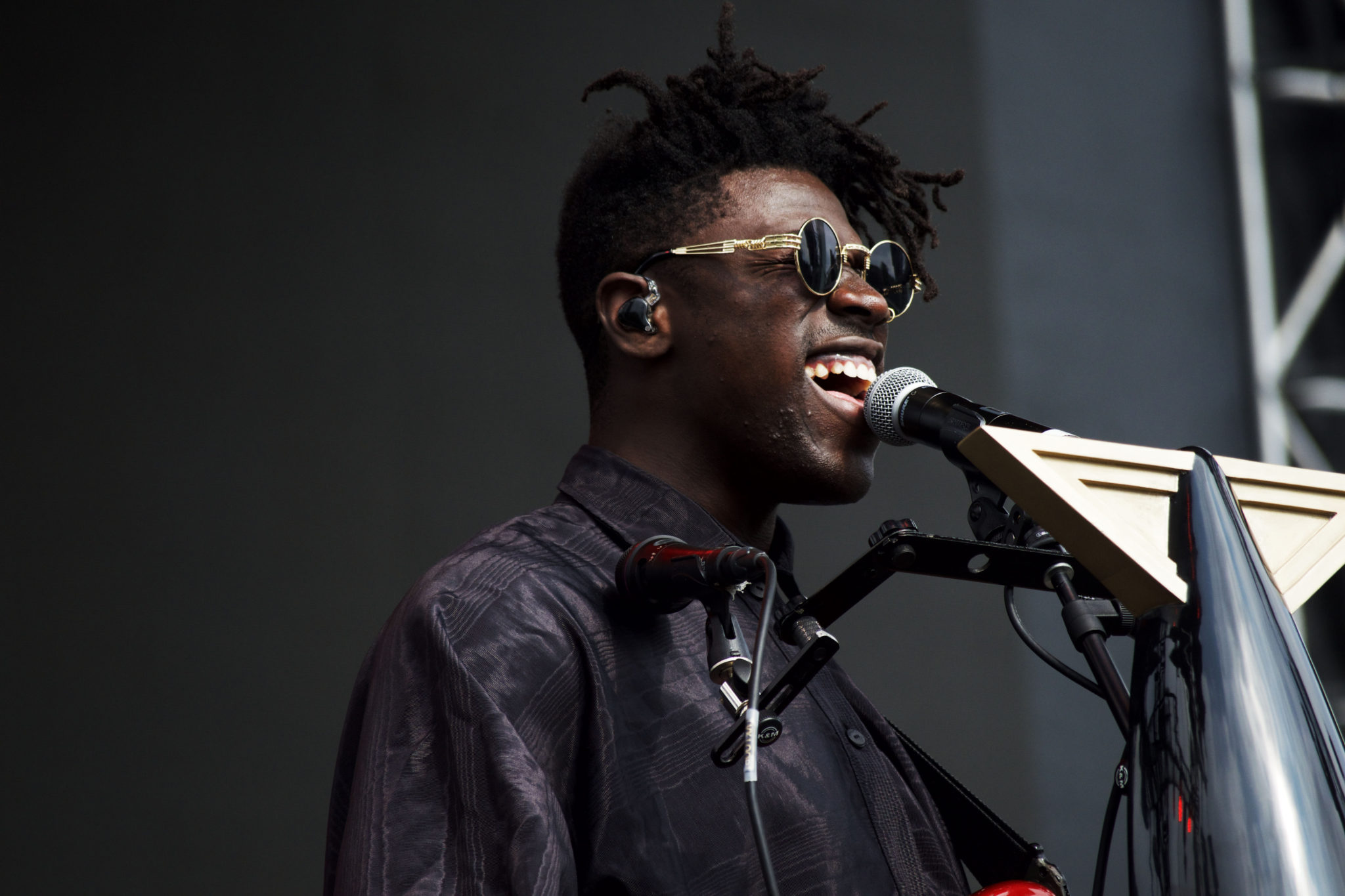 Moses Sumney during his set   Photo by Nelson Okunlola (The TRiiBE)
