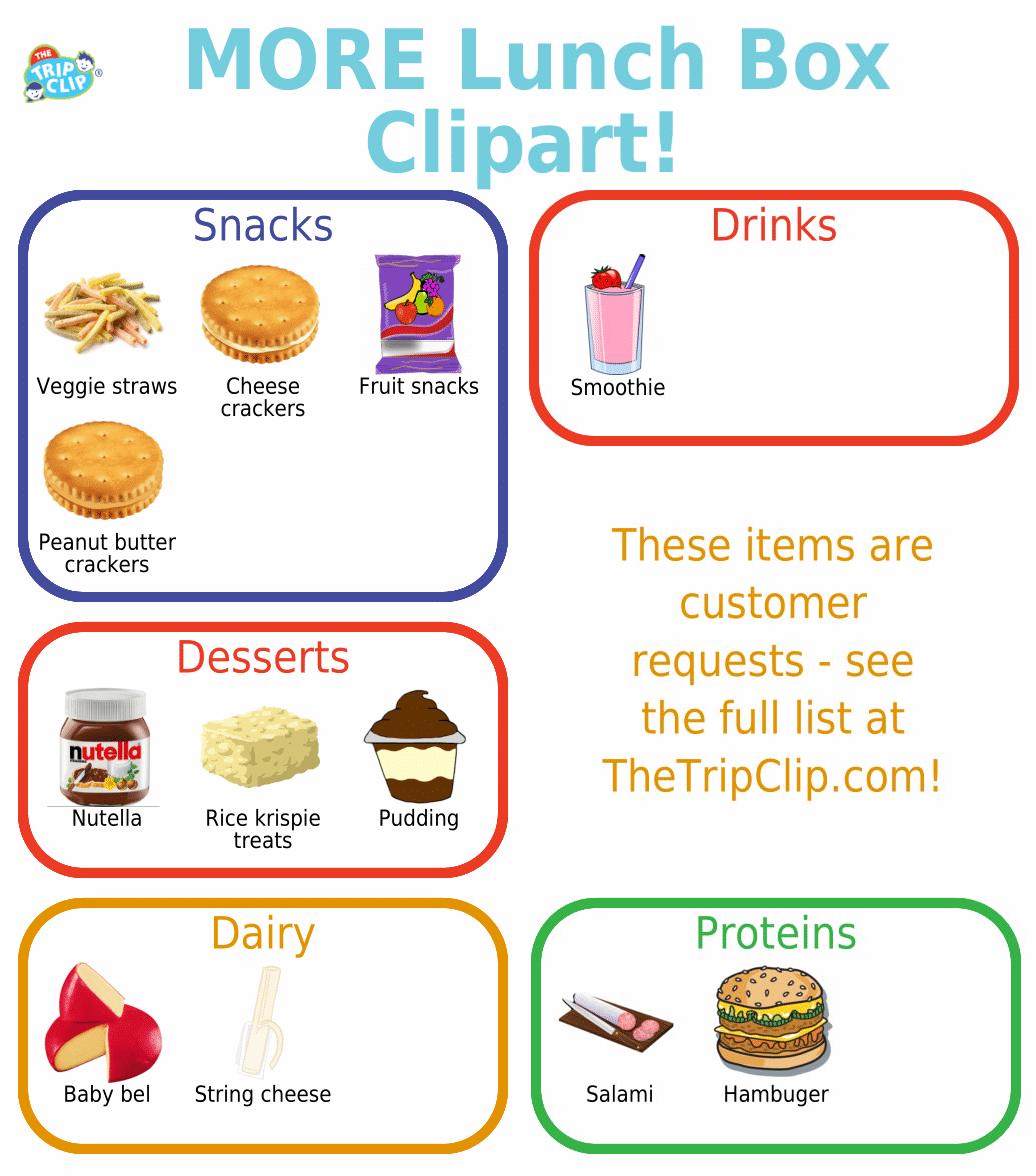 More Lunch Box Checklist Clipart