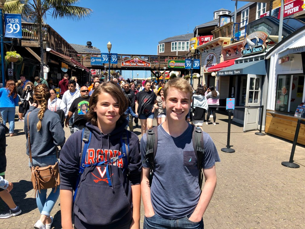 How painful is it to fly in Economy to Australia? We made it less painful with a long layover in San Francisco. Here, the Trip Takes Us crew visits Fisherman's Wharf