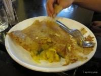 Dosa with potato