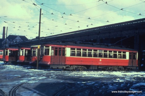 CTA 330 at Kedzie Station (car barn) in March 1951.