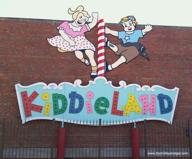 Kiddieland sign at the Melrose Park Public Library.