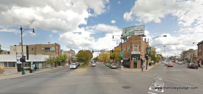 Irving Park Road and Elston as it appears today.