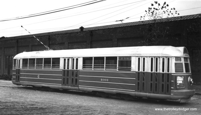 CSL 4001 at South Shops on October 23, 1938. (George Krambles Photo)