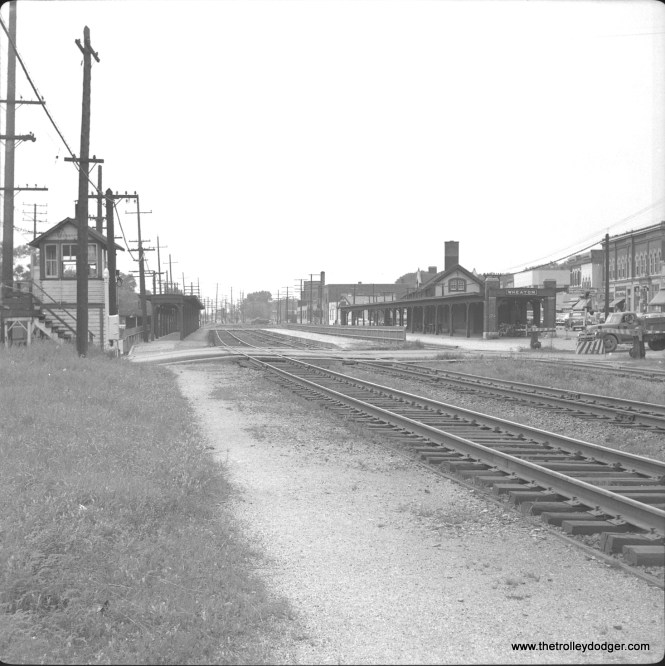 #13 - The Chicago & North Western station at Wheaton. CA&E paralleled C&NW in this area and its tracks are off to the left.