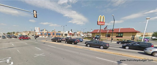 Harlem and Cermak today. From the 1950s through the 1970s, there was a Peter Pan family restaurant where the McDonald's is today.