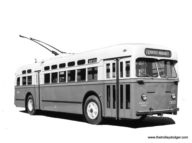 Trolley bus 395 on route 78 - Montrose.