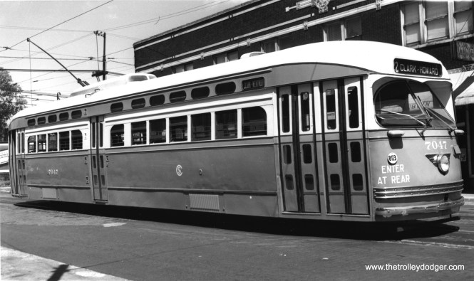 7047 at 81st and Halsted. (James J. Buckley Photo, Krambles-Peterson Archive)