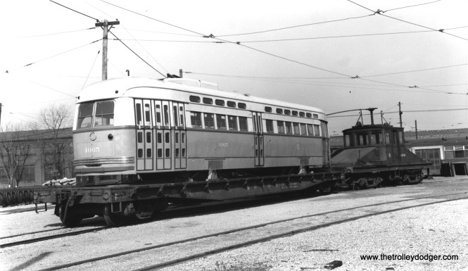 4065 being delivered at South Shops. The date would be October 19, 1946 according to CSL records. (Joe L. Diaz Photo)