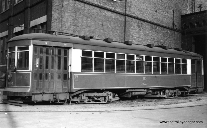 "George Trapp: ""CSL #3157 is at 77th Street Depot."" (Railway Negative Exchange Photo)"