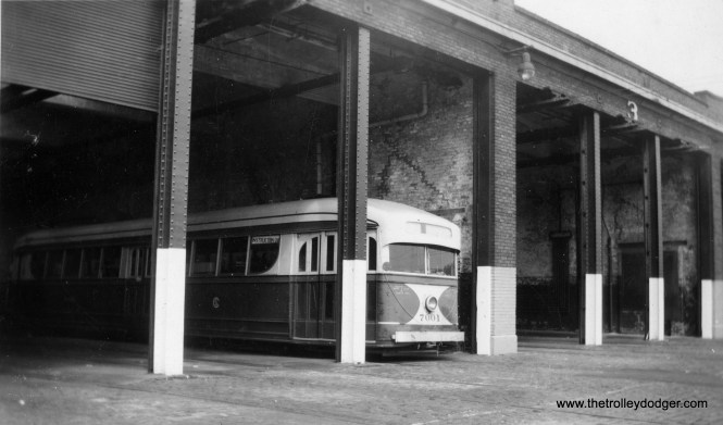 A rare 1947 picture showing 7001 at Rockwell Depot, signed as an Instruction Car. It had been retired from regular service in 1944 and was turned into a shed in 1948.