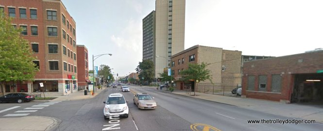 Broadway and Victoria (approx. 5744 N.) today. We are looking north.