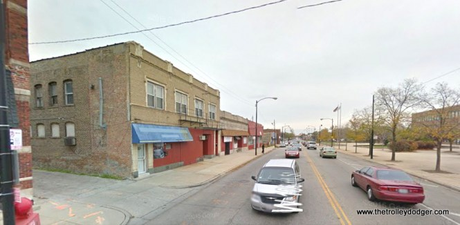 103rd just east of Vincennes today. Note the same building as in the previous picture.