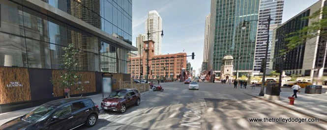 Clark and Wacker today, looking north.