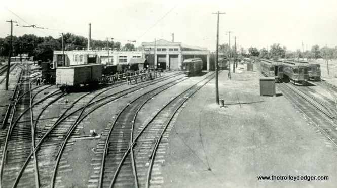 The CA&E Wheaton Yard. This photo was dated as the 1950s but looks to be earlier.