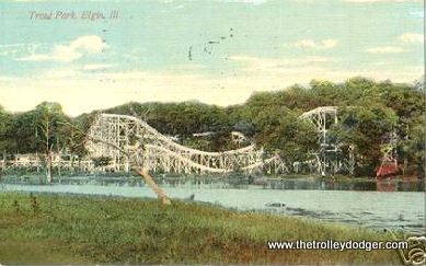 The Trout Park roller coaster. Trolley lines often built amusement parks in order to generate traffic.