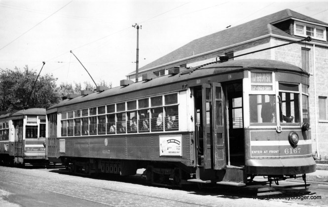 """CTA 6167 on the 67-69-71 line. Andre Kristopans: """"6167 is at (the) 71st/California terminal."""""""
