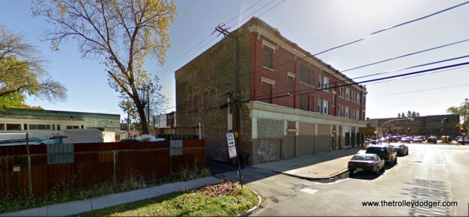 The building shown in the last picture, as it looks today on Lawndale just north of North Avenue. The buildings to the west of here have been torn down (there is a car wash on that site today), but note the similarity in construction to the building shown in our mystery photo.