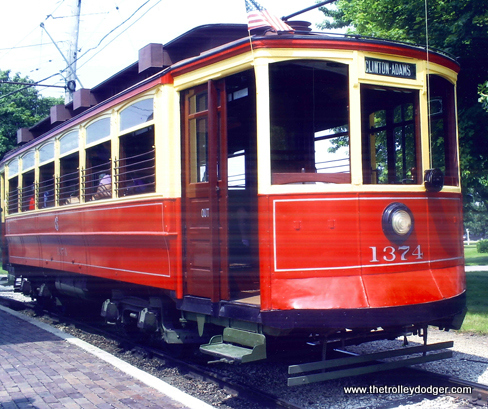 This refurbished trolley from the same series as the one found in a Weyauwega backyard may be seen at the Illinois Railway Museum. (Photo courtesy of Frank Sirinek)