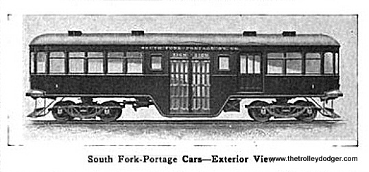 There were two South Fork-Portage cars, built by the Nile Car & Manufacturing company in 1913.