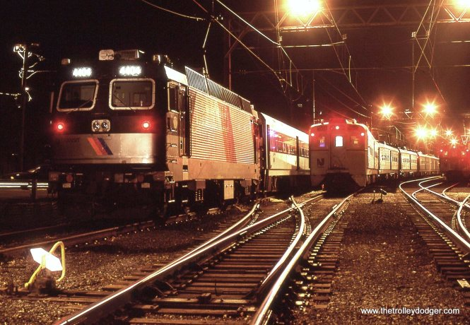 A NJT ALP-44 & a ARROW MU in the yard 12/11/98