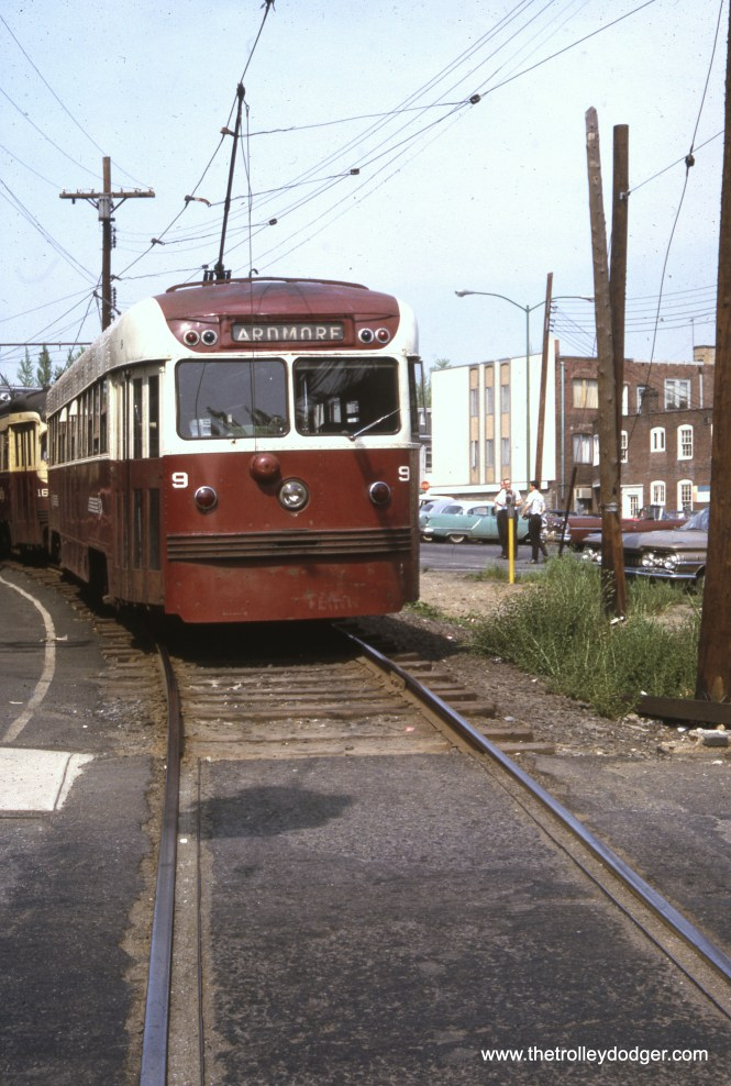 Brilliner 9 on the Red Arrow's Ardmore line in May 1965. About 18 months later, this line was converted to bus.