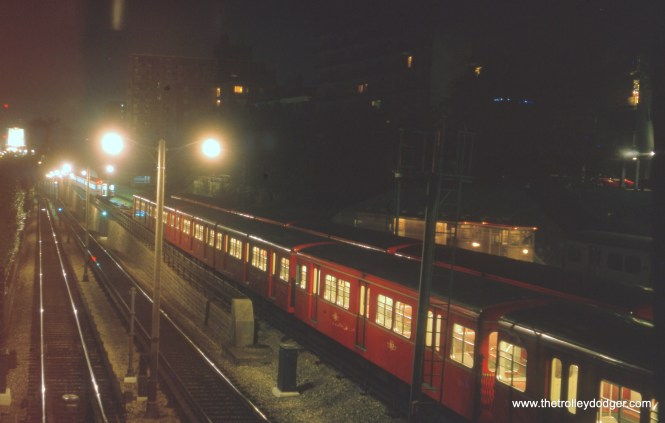 A Toronto subway train in August 1963.