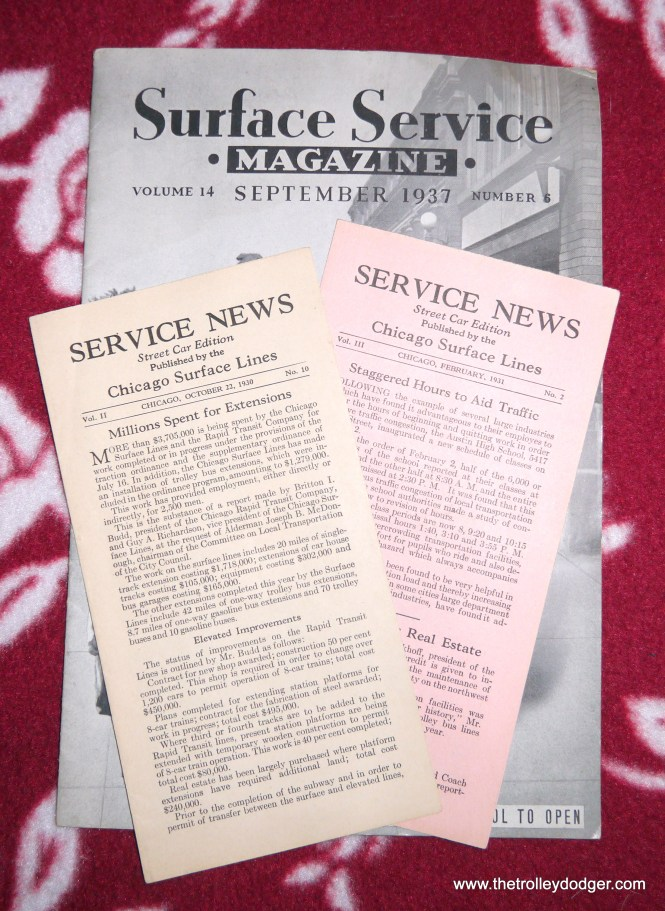 Three more documents have been added to our E-book Chicago's PCC Streetcars: The Rest of the Story, available in our Online Store.