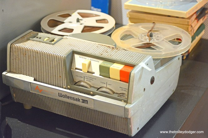 An early Wollensak-3M portable tape recorder.