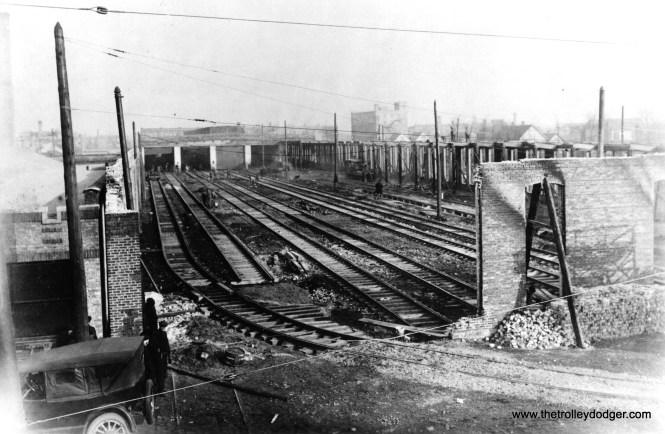 Looking east at Clark and north of Schreiber, this February 10, 1922 Chicago Historical Society photo shows the aftermath of the fire that burned down half of Devon station (car house).