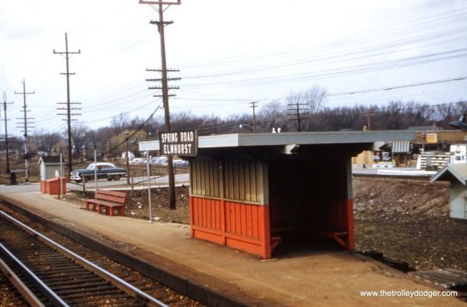 The CA&E Spring Road station in Elmhurst in the mid-1950s.