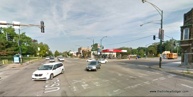 The same location today. We are looking west along 95th, and Cottage Grove is to the right.