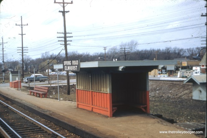 The CA&E station at Spring Road in Elmhurst in the 1950s.