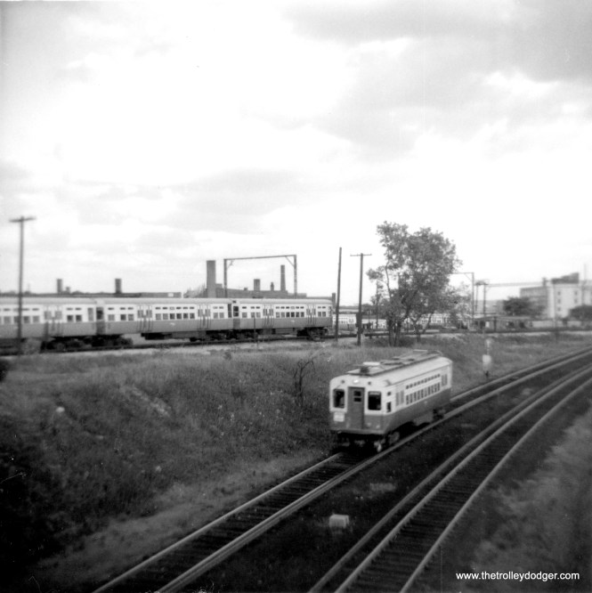 CTA car 2 near Howard in 1964. (George Trapp Photo)