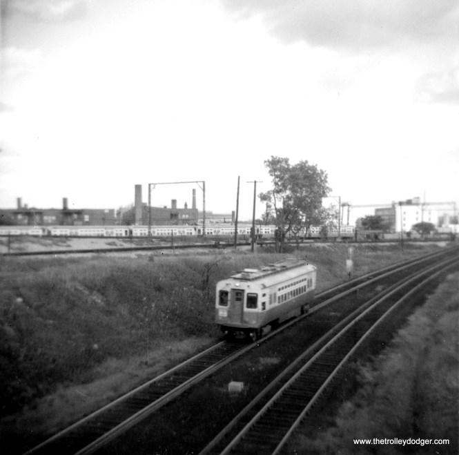 CTA car 4 near Howard in 1964. (George Trapp Photo)