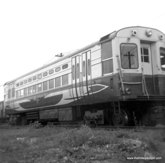 CTA high-speed car 2 at Skokie Shops in June 1962. (George Trapp Photo)