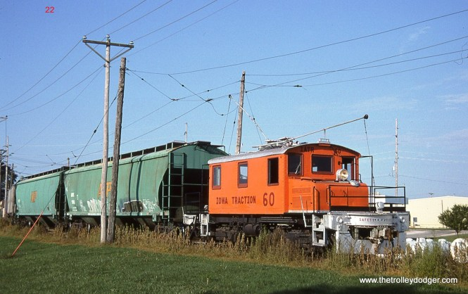 22. Here is one last shot of IATR # 60 hauling a cut of cars at AGP in Mason City on August 22, 2006.