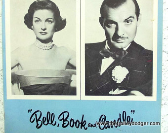 Joan Bennett and Zachary Scott in the 1952 off-Broadway version of Bell, Book and Candle.
