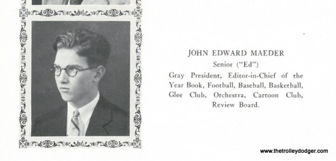 John Edward Maeder's 1925 high school yearbook picture. Hawken School is located in Cleveland, Ohio, and was founded in 1915.